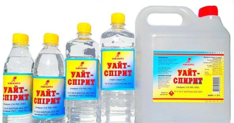 Уайт-спирит для очистки герметика