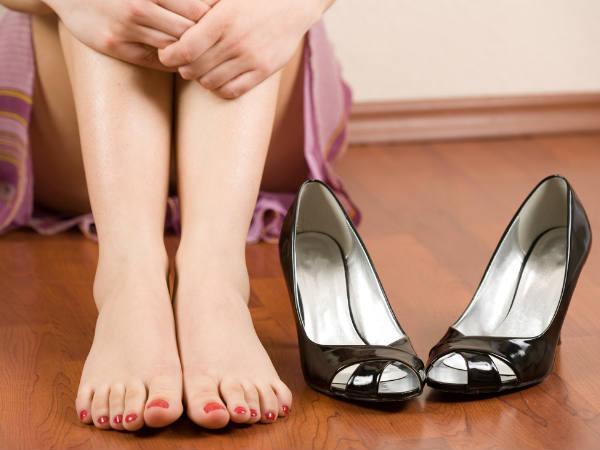 Тесная обувь из искусственной кожи