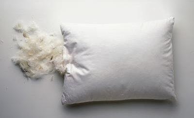 Как почистить перьевую подушку