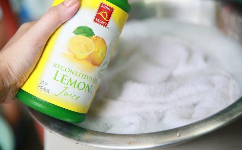 Лимонная кислота поможет отбелить тюль
