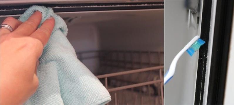 Чистка уплотнителей посудомоечной машины