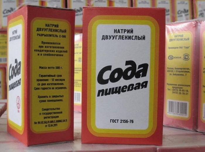 Сода для очищения силикона
