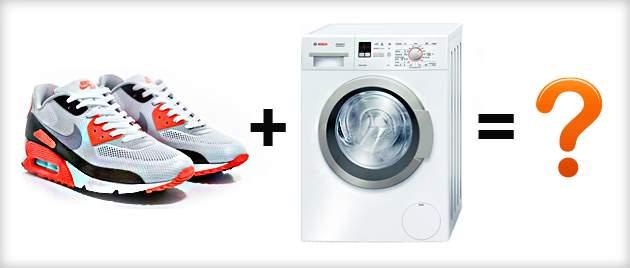 Не всегда кроссовки можно стирать в стиральной машине