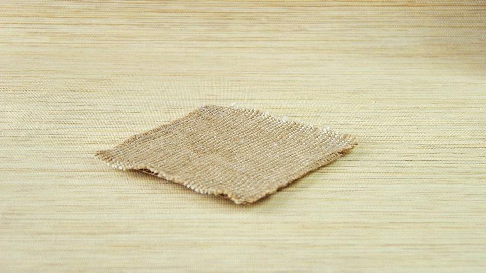 Лоскут мешковины для чистки дубленки