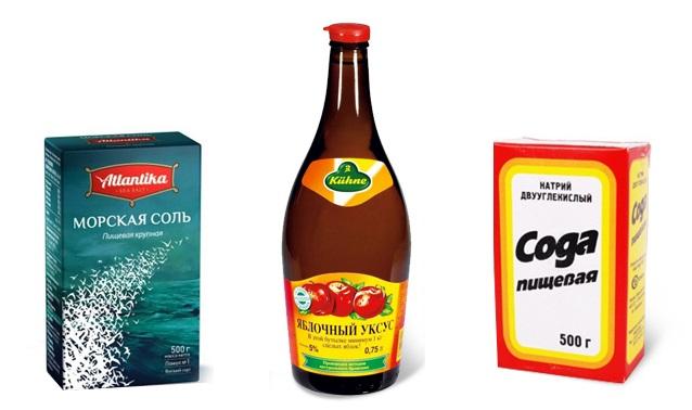 Соль, сода и уксус