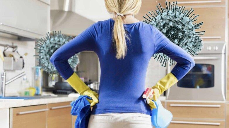 Уборка дома при вспышке COVID-19